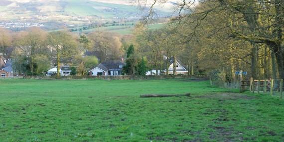 Mottram— between Tollemache estate (back of Hall Drive) + Rabbit Lane