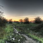 Muddy path at godley green